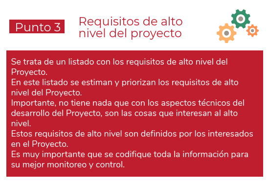 Requisitos de alto nivel del proyecto